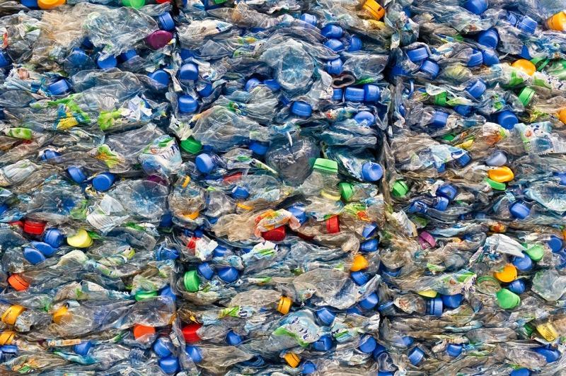 Plastic trash bottles