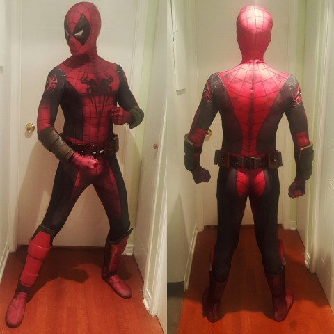 spider-man deadpool costume