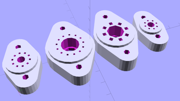 Vacuum tube bases solid models