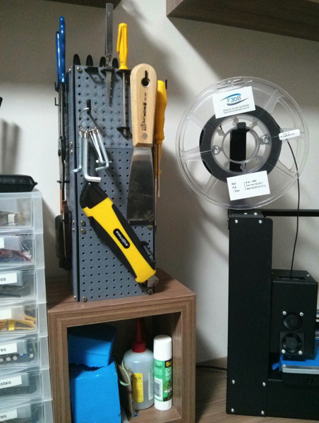 Mini Pegboard Tool Tower by mccarmo Thingiverse