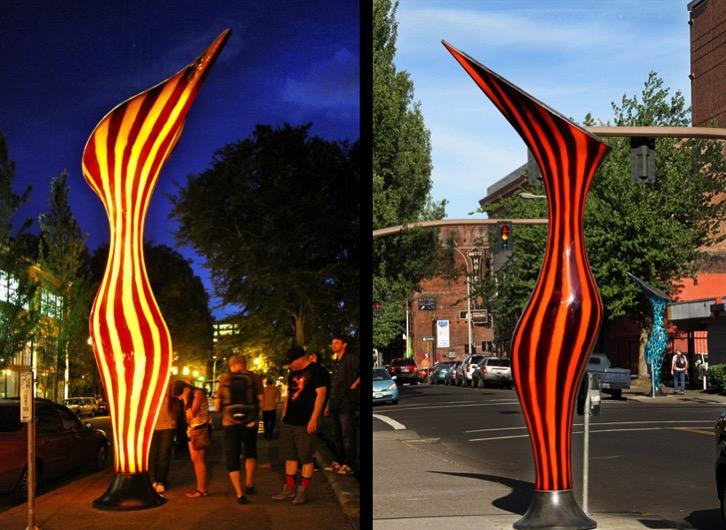 Nepenthes Solar powered sculpture Dan Corson 5