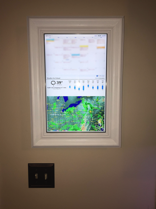 Raspberry Pi Display With Google Calendar Weather And