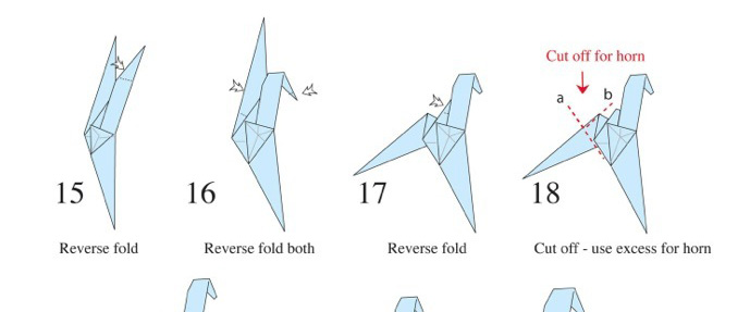 Blade Runner Origami Unicorn Pin: Origami Fold Gaff's Unicorn From #BladeRunner « Adafruit