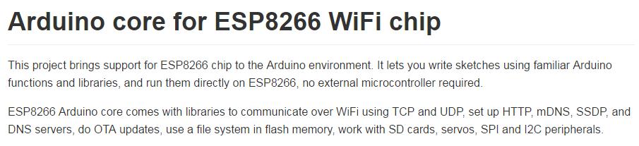esp8266 arduino core