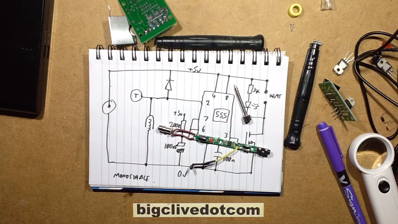 Usb Soldering Iron Teardown And Reverse Engineer Schematic Control Board Wiring Diagram The Pcb Powering His Pen But He Engineers Explains It Yes Spoiler Thats A 555 At Heart Of This Circuit