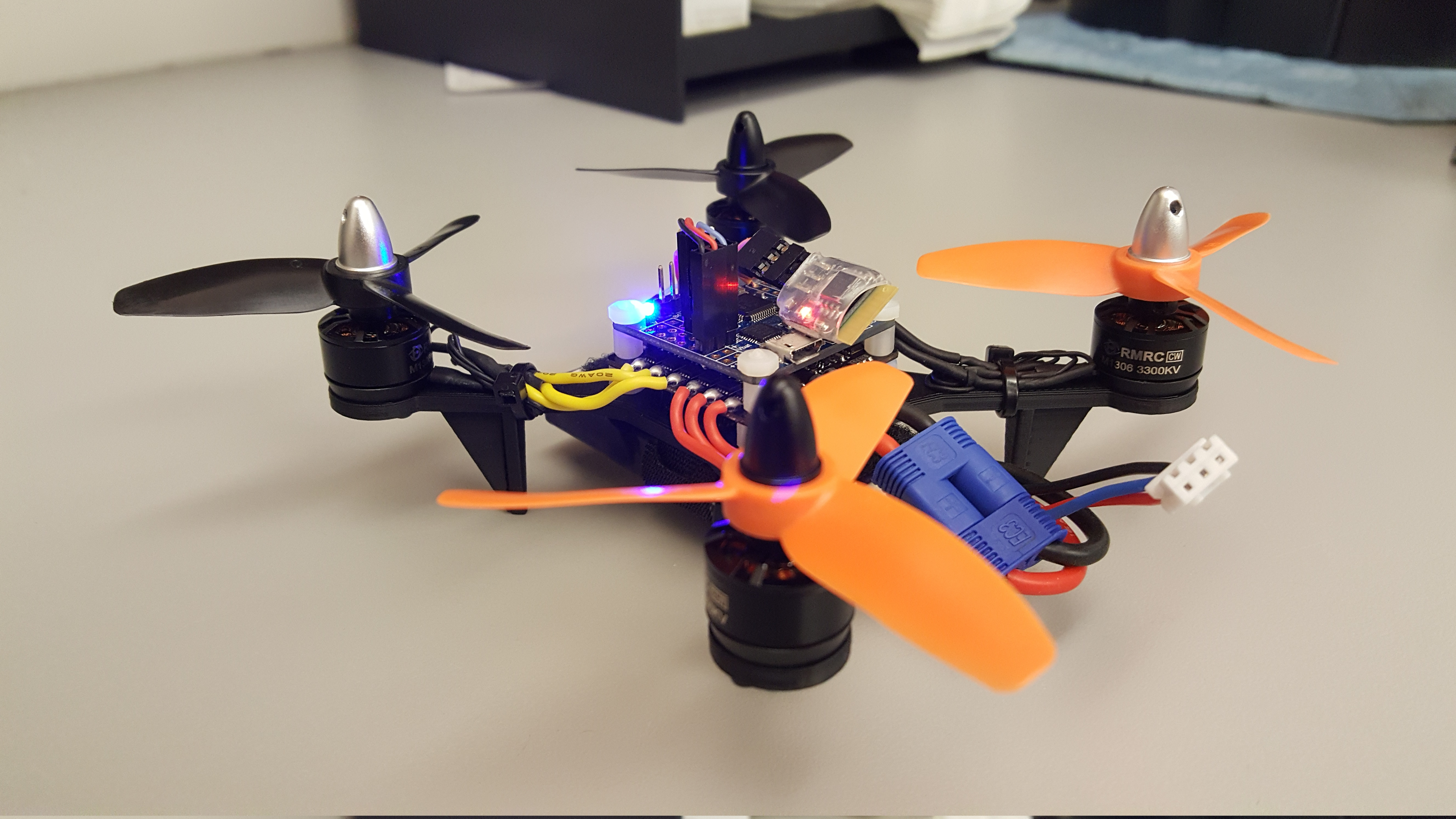 User designed mini quadcopter with d printed frame