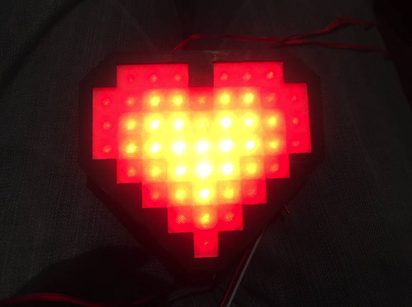 Heart Rate Party Pendant by CrazyJaw Thingiverse