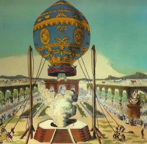 Montgolfier brothers flight 500x488