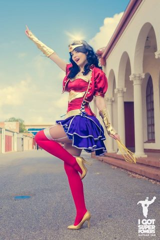 Steampunk wonder woman cosplay 1