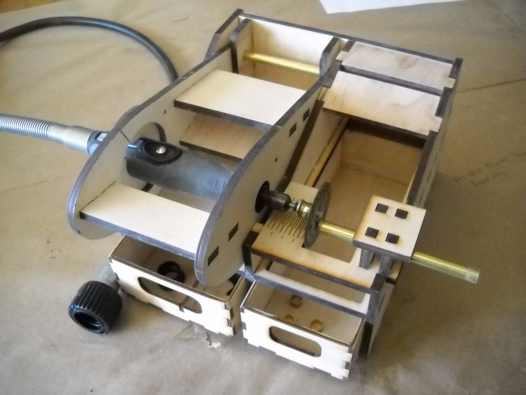 Turn A Dremel Tool Into A Mini Chop Saw In A Laser Cut