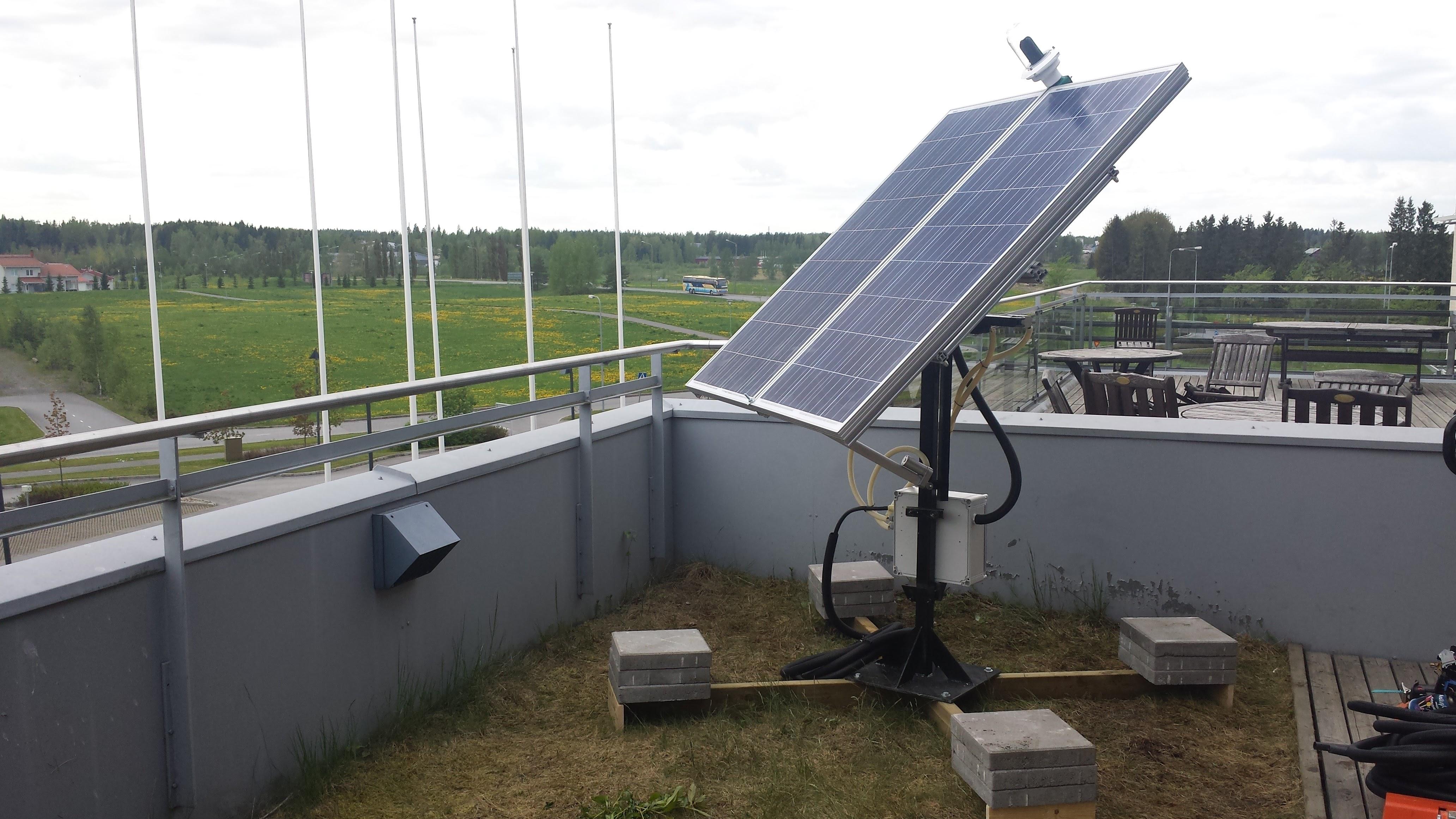 Pan Tilt Solar Tracker Powered By Arduino Mega Doubles As