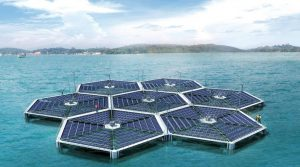 Floating Solar Island in India