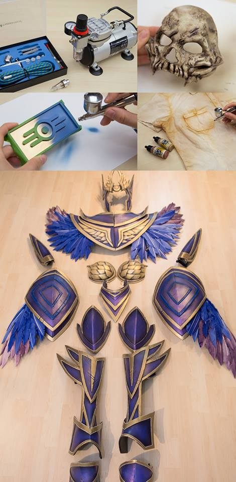 airbrushing for cosplay