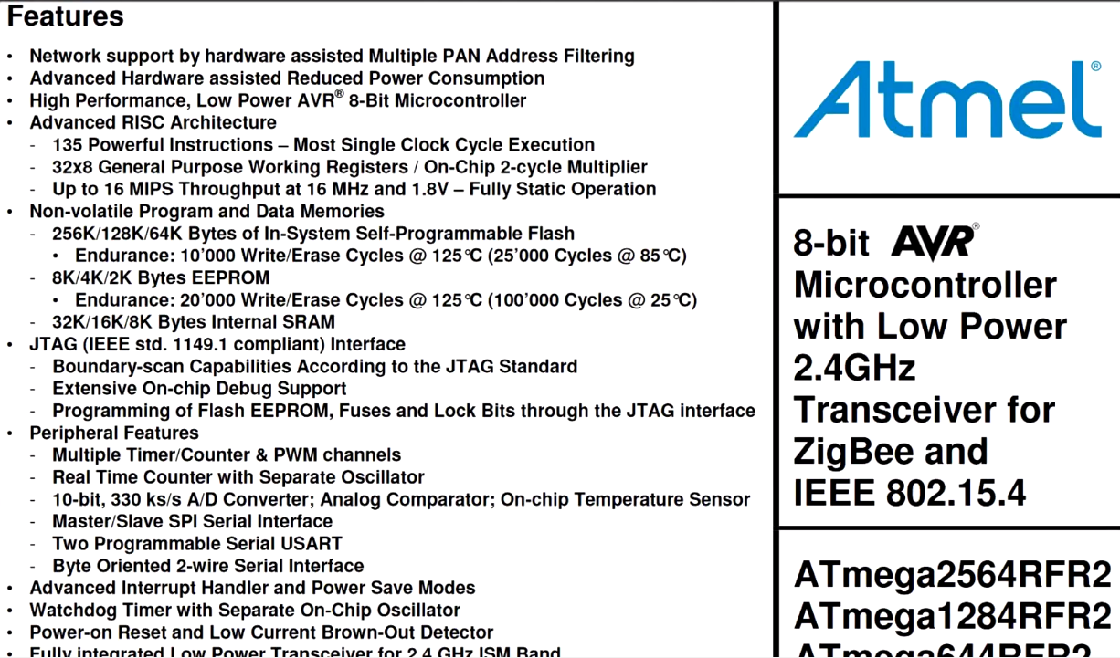 atmel bulb sheet