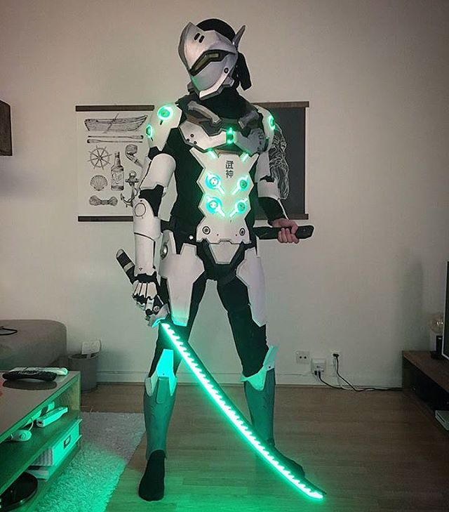 Glowing Overwatch Genji Cosplay 171 Adafruit Industries