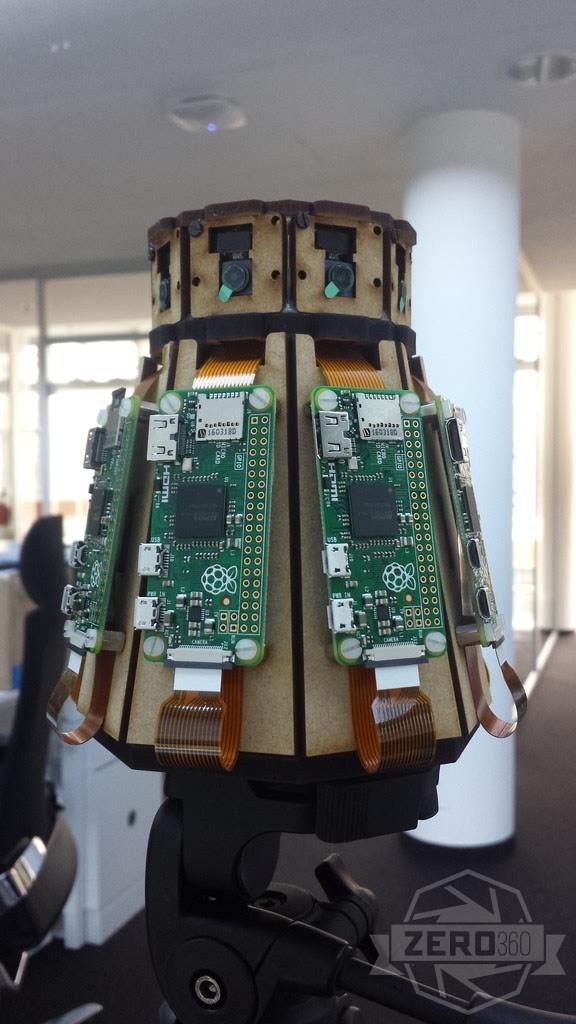 360 Degree Panorama Camera Using 10 Raspberry Pis Piday