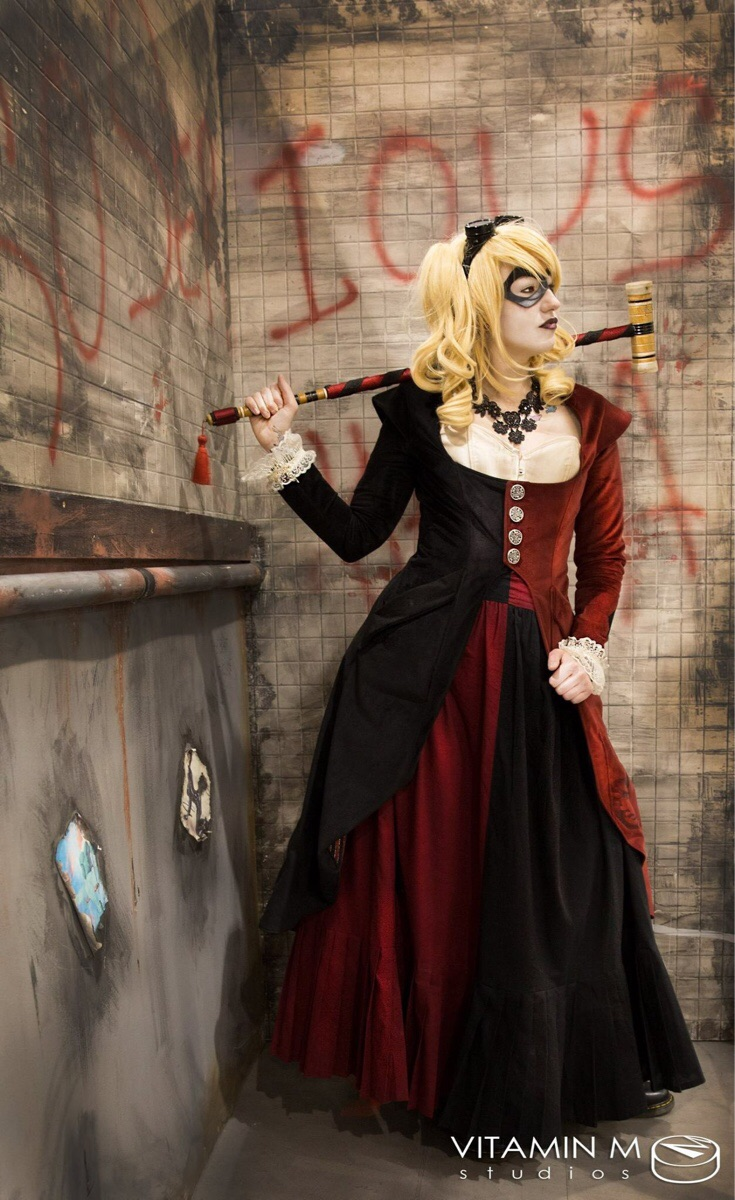 victorian harley quinn cosplay 1