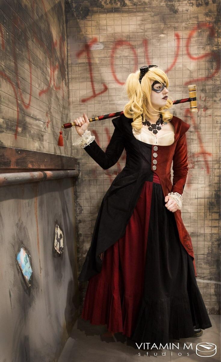 victorian harley quinn cosplay 1