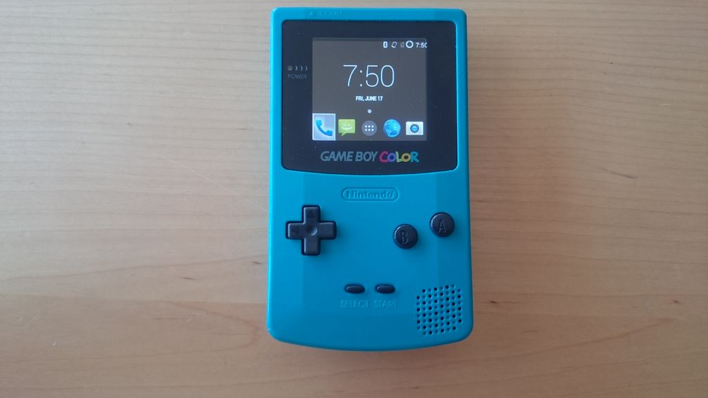 GameDroid: GameBoy Color Modded with LG Smartphone Tech ...