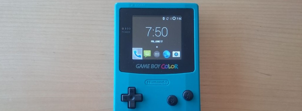 Gamedroid gameboy color modded with lg smartphone tech