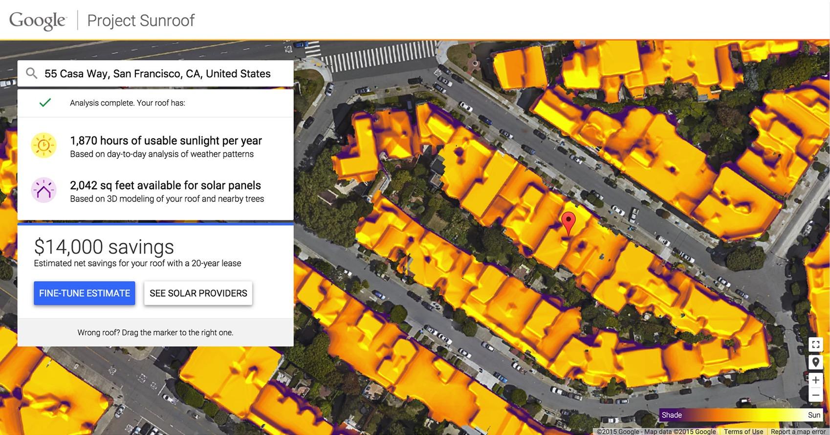 Googles Project Sunroof