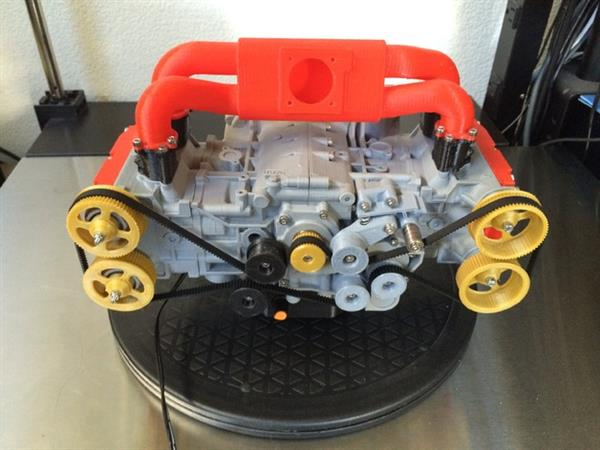 Learn all about engines with eric harrell amazing and functional 3d printed mini subaru engine 1