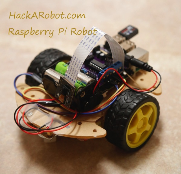 Hackarobot dot com raspberry pi robot