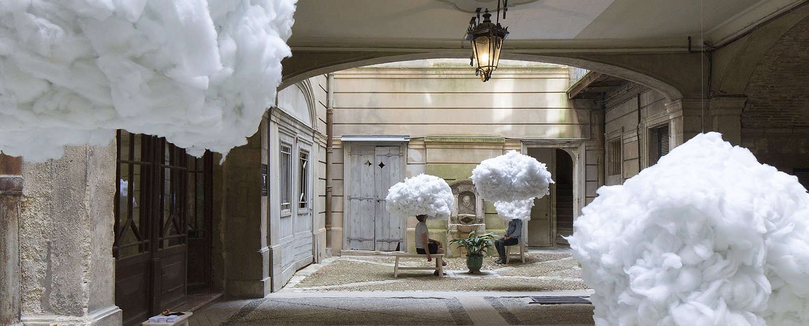Head in the clouds mickael martins afonso escaffre caroline faure festival des architectures vives designboom 1800