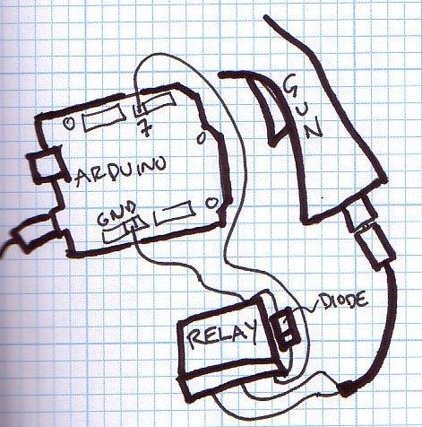 Nerf Sentry trigger sketch