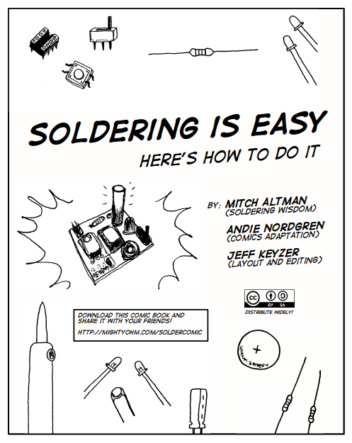 the  u201csoldering is easy u201d comic book  u2013 now with arabic