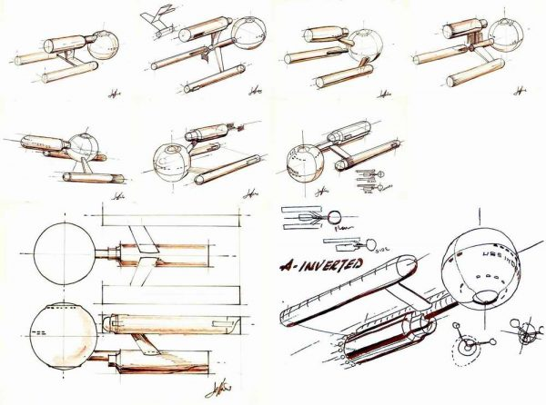 Early_USS_Enterprise_design_concepts_by_Matt_Jefferies