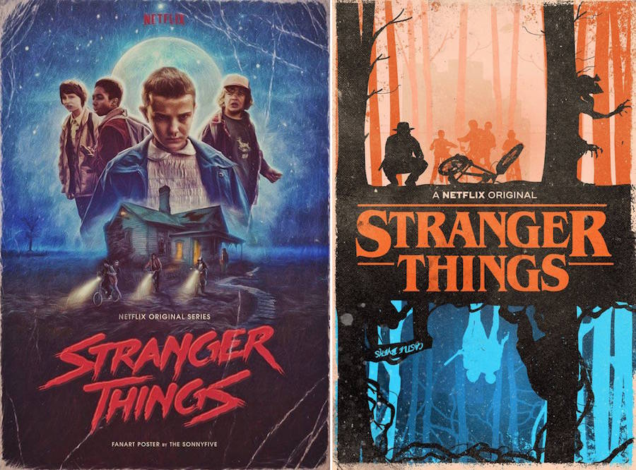 Superb Fan Art Posters of Stranger Things1 900x666