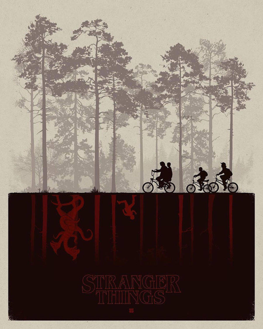 Superb Fan Art Posters of Stranger Things2 900x1124