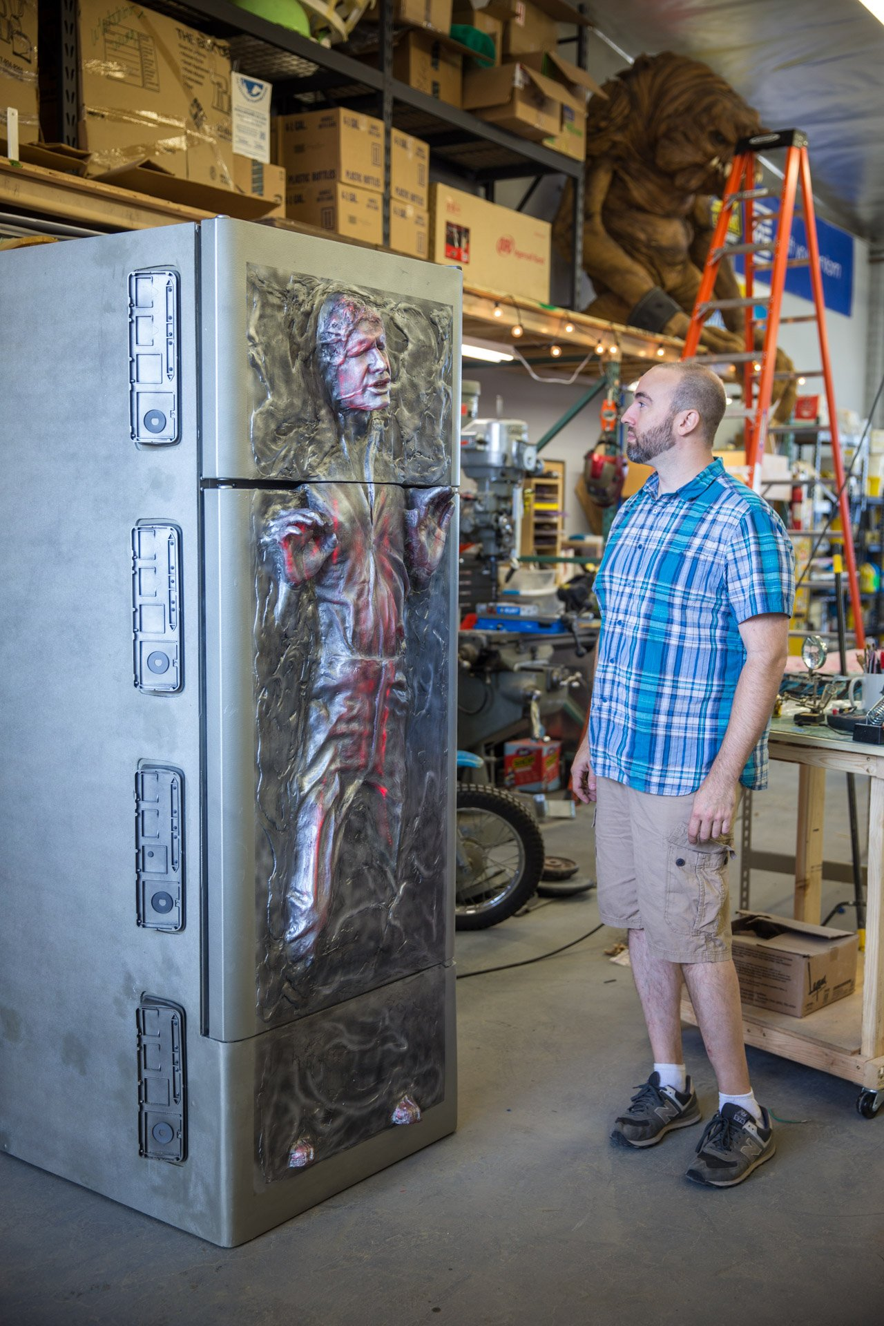 han in carbonite fridge
