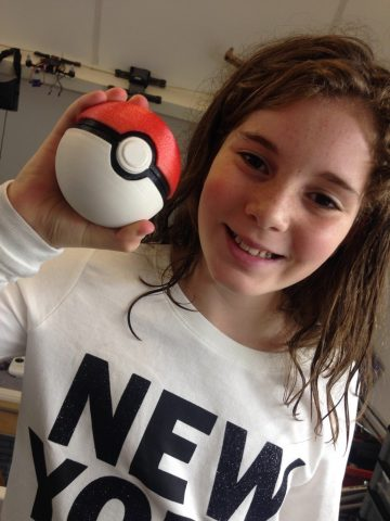 pokeball with button