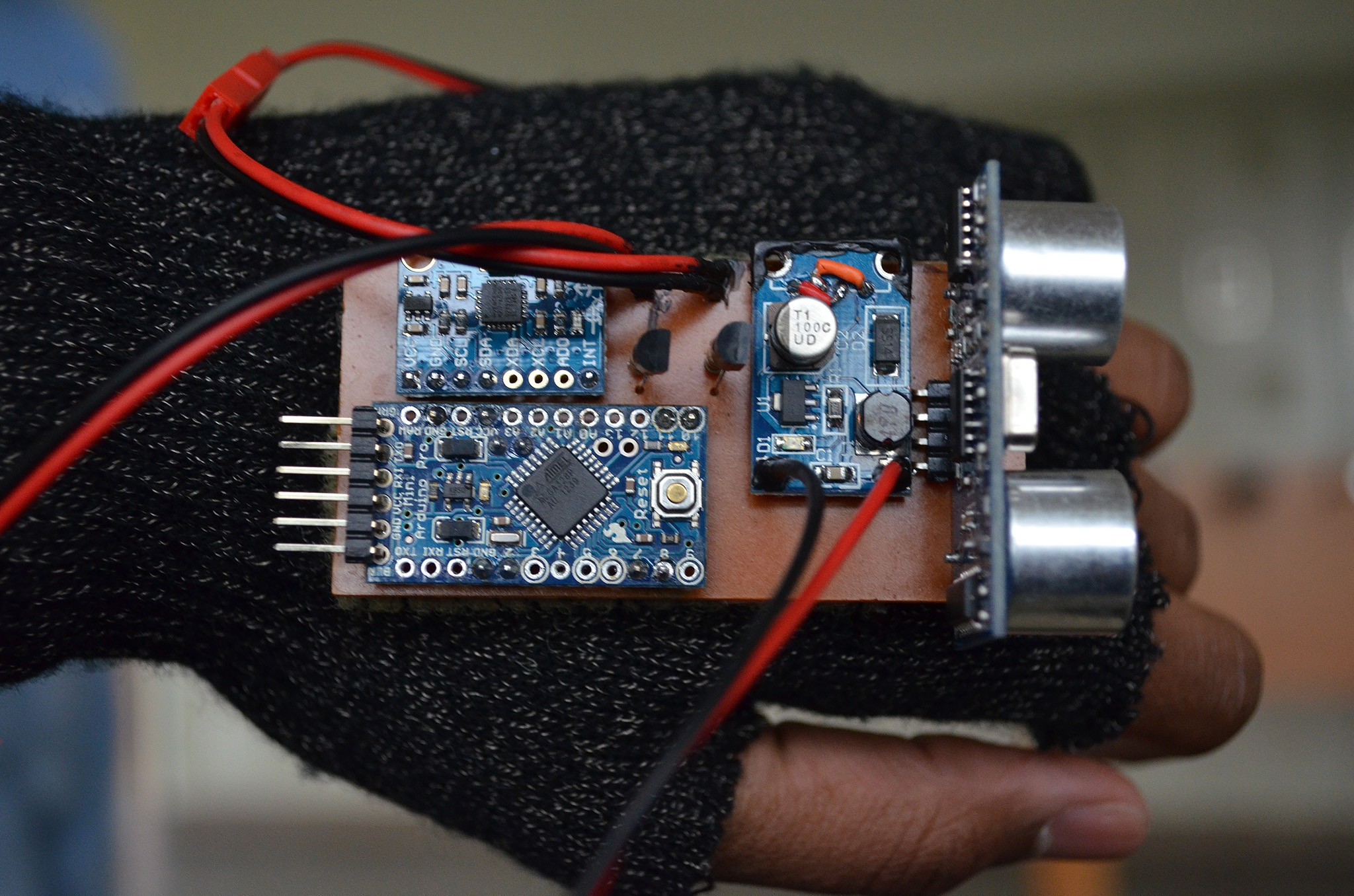 Wrist worn ping sensor assists the blind with navigation