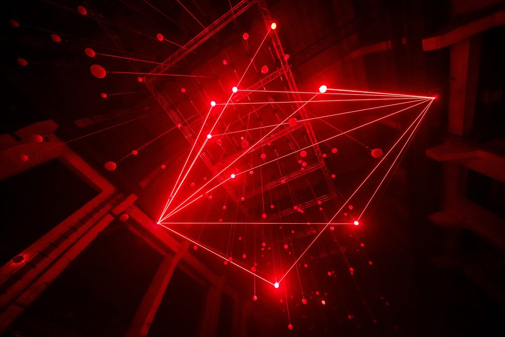 Watch A Breathtaking Fusion Of Laser Light And Sound In