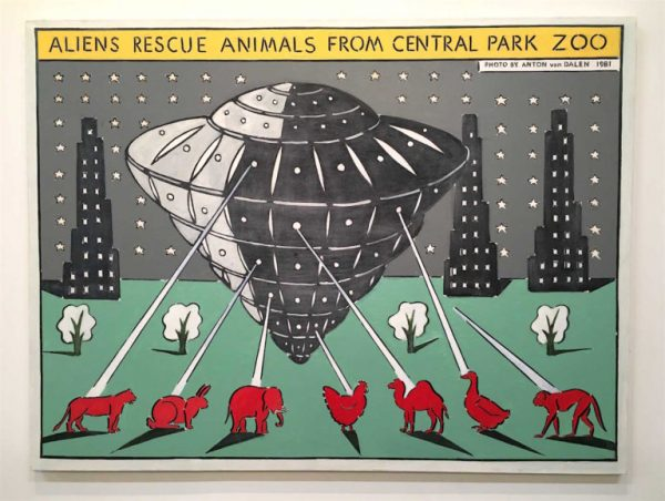 Anton-van-Dalen_Aliens-Rescue-Animals-from-Central-Park-Zoo_1981-768x578