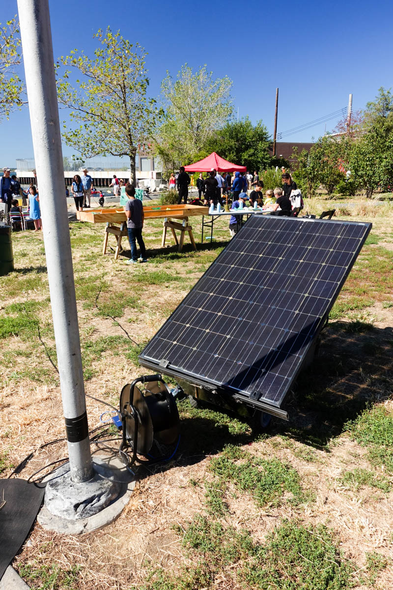 A giant solar panel powered one quadrant of the event!