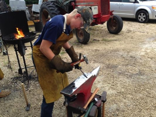 Black Oak Forge Connor blacksmith apprentice