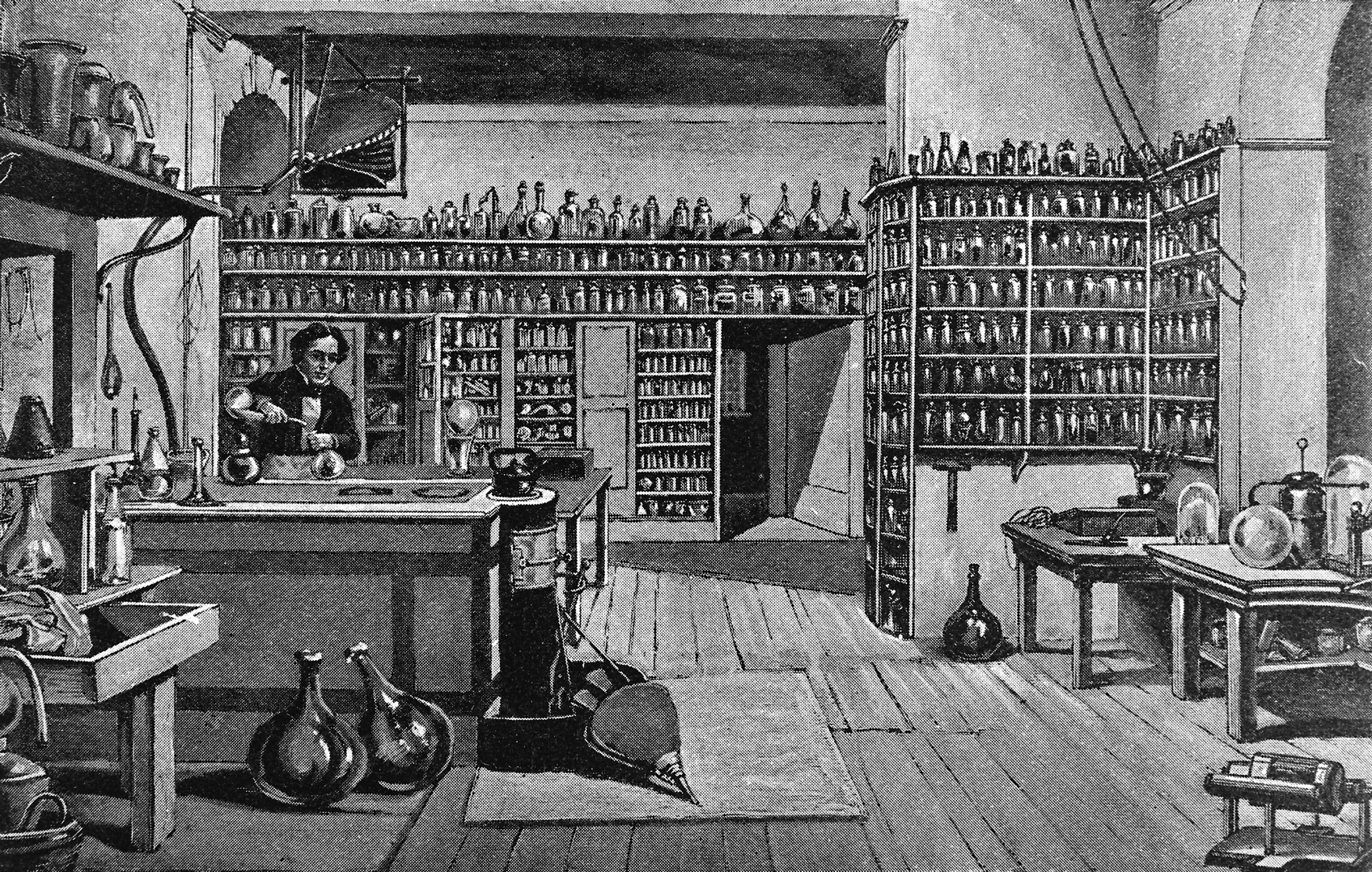 Faraday in his laboratory at the Royal Institution London Wellcome M0004625
