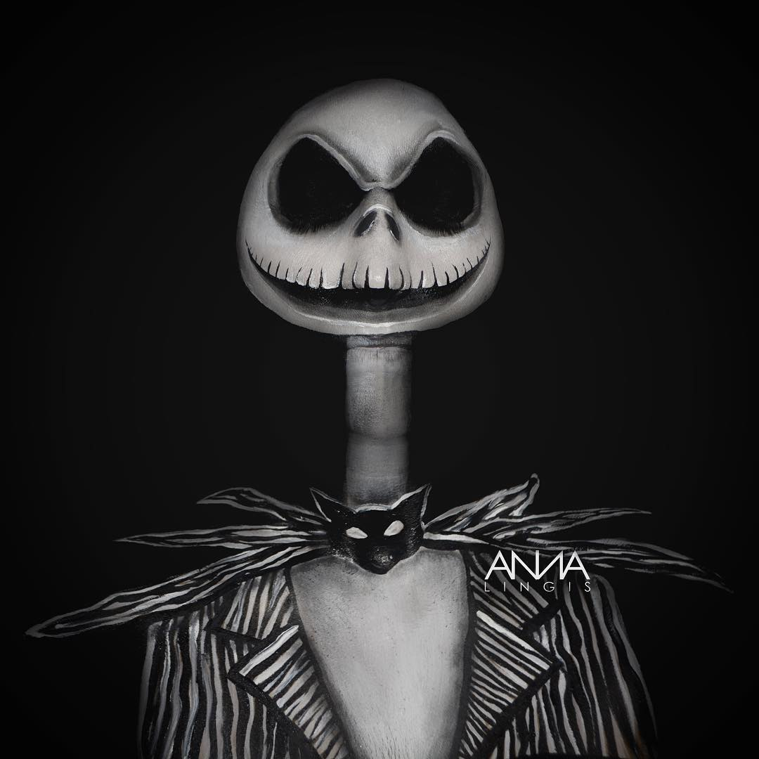 Nightmare Before Christmas Jack Skellington Makeup