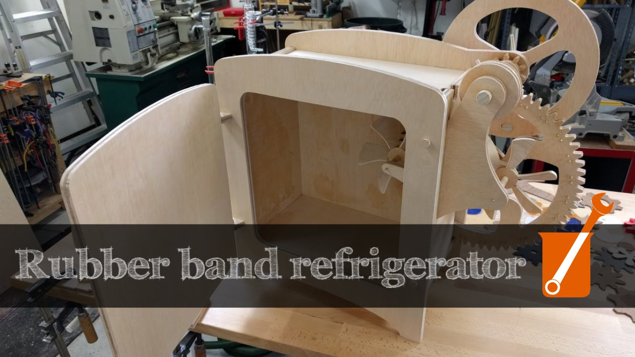 Rubber Band Thermodynamics A Refrigerator Powered By