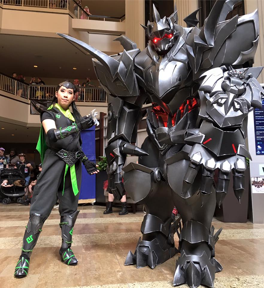 Massive Overwatch Reinhardt Costume « Adafruit Industries \u2013 Makers,  hackers, artists, designers and engineers!
