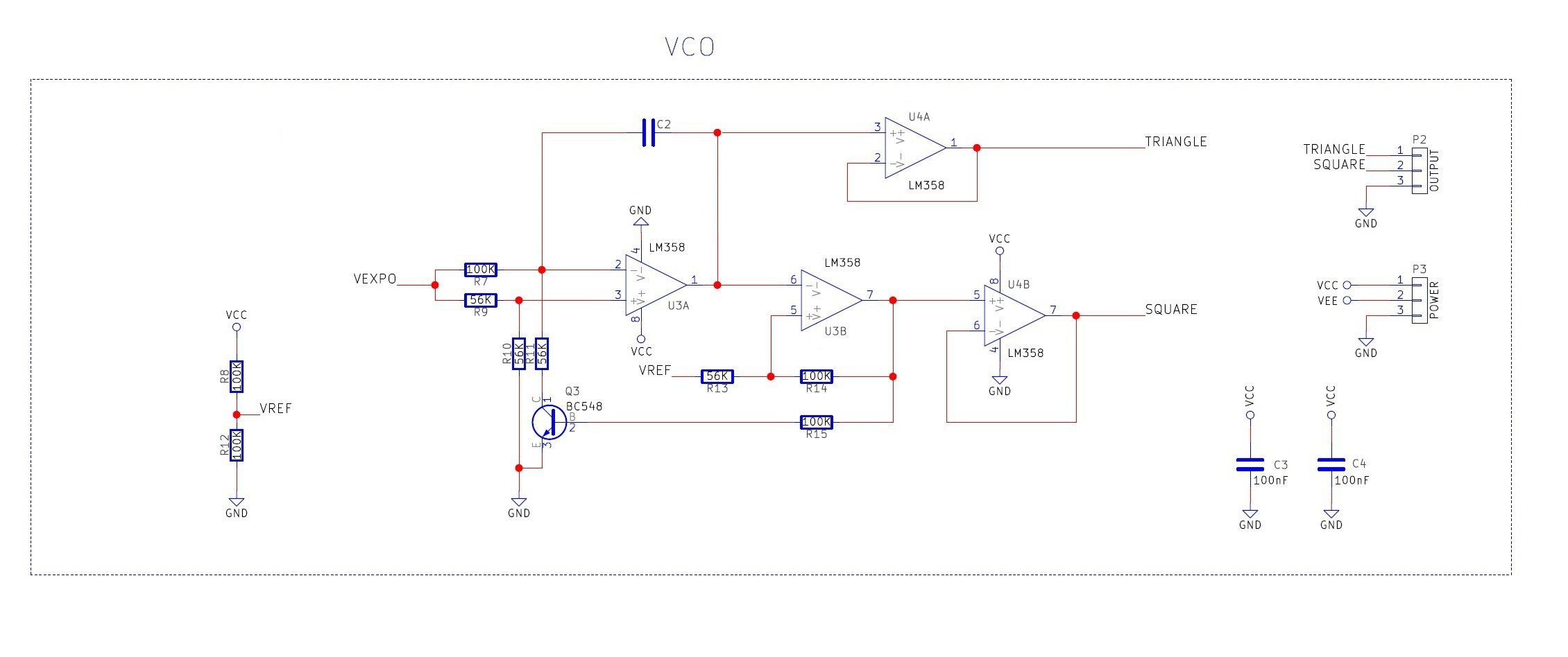 Homemade Exponential Voltage-Controlled Oscillator Uses Multiple