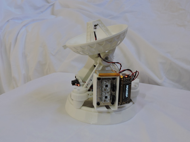 3D Printed Desktop Satellite Antenna by Hyperplane Interactive Pinshape