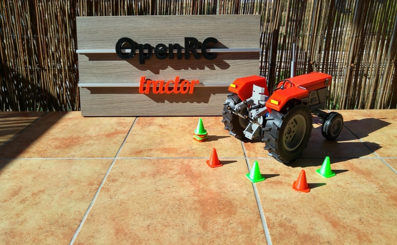 3D Printed OpenRC Tractor by makit Pinshape