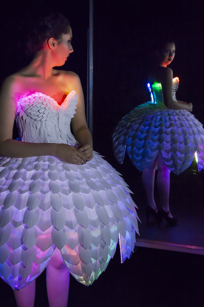 Ester Dress with Rainbow Neopixels