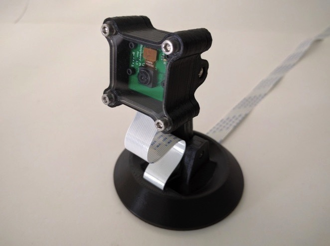3D Printed Raspberry Pi Camera Desktop Stand by GregoryHolloway Pinshape