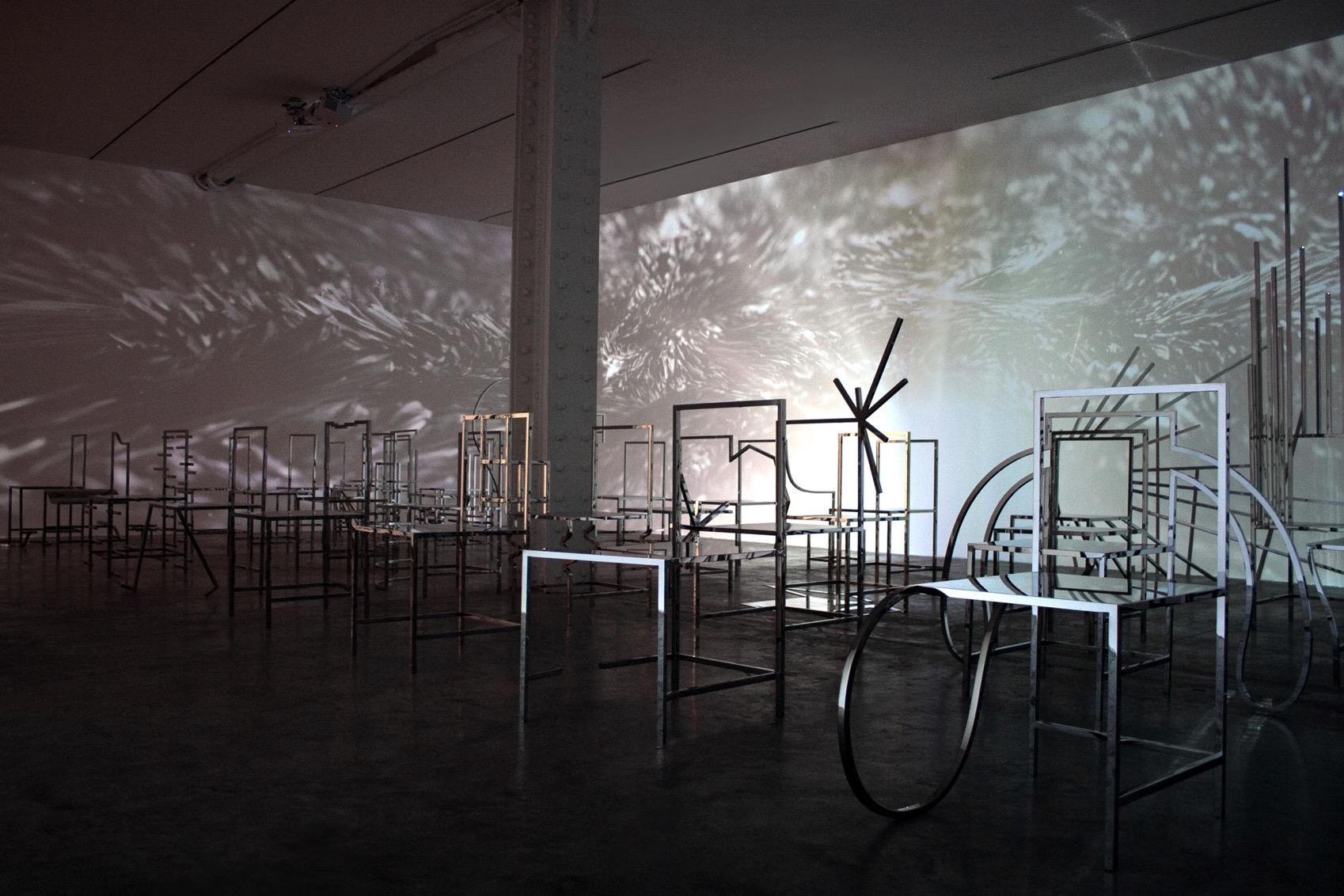50 manga chairs nendo installation dezeen 2364 col 8